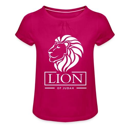 Lion of Judah - Rastafari - Mädchen-T-Shirt mit Raffungen