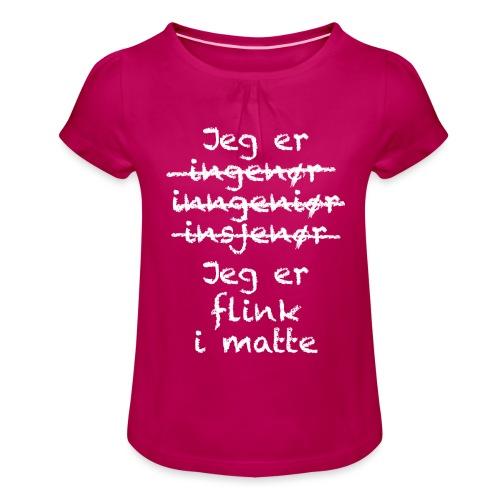 Flink i matte - Jente-T-skjorte med frynser
