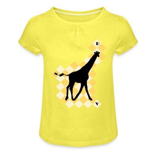 GiraffeSquare - Tyttöjen t-paita, jossa rypytyksiä