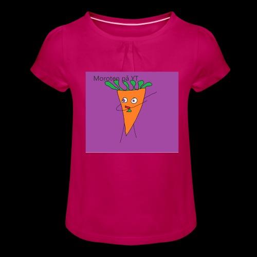 Yt logo - T-shirt med rynkning flicka