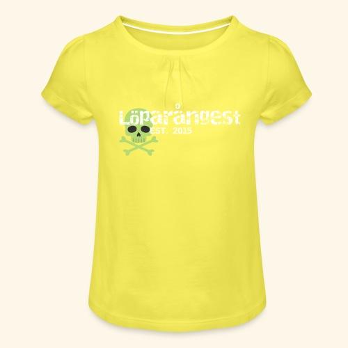 loeparangest - T-shirt med rynkning flicka