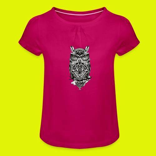 maglietta gufo - Maglietta da ragazza con arricciatura