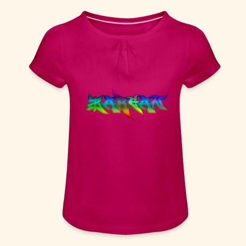 ZARGAN - T-shirt à fronces au col Fille