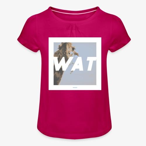 WAT #01 - Mädchen-T-Shirt mit Raffungen
