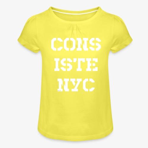 Consistency - weiß - Mädchen-T-Shirt mit Raffungen