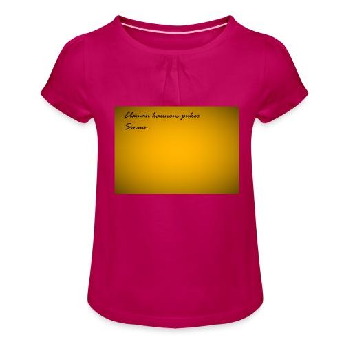 Kirje... - Tyttöjen t-paita, jossa rypytyksiä