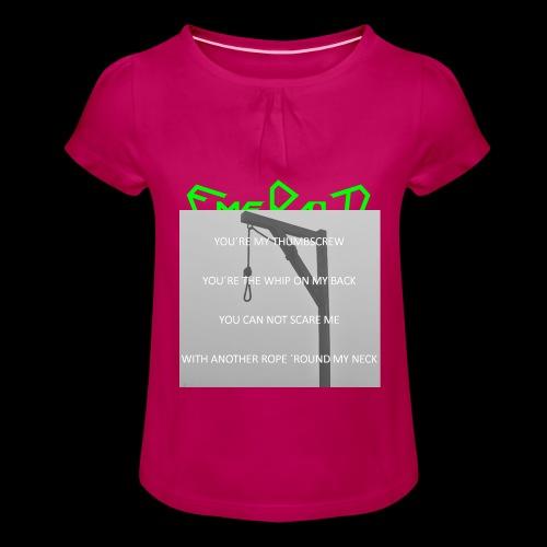 Emerald - Mädchen-T-Shirt mit Raffungen