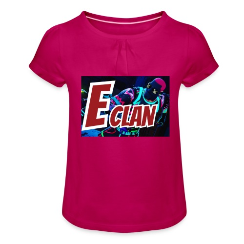 Elite x Clan Turnbeutel - Mädchen-T-Shirt mit Raffungen