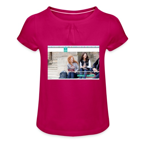 user2 - Girl's T-Shirt with Ruffles