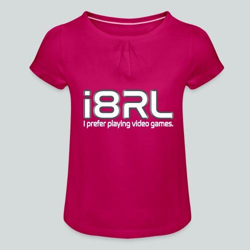 i8RL - I prefer playing video games. - T-shirt à fronces au col Fille