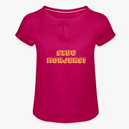 Sidu morjens! - T-shirt med rynkning flicka