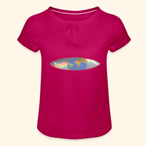 Heal the World - Mädchen-T-Shirt mit Raffungen