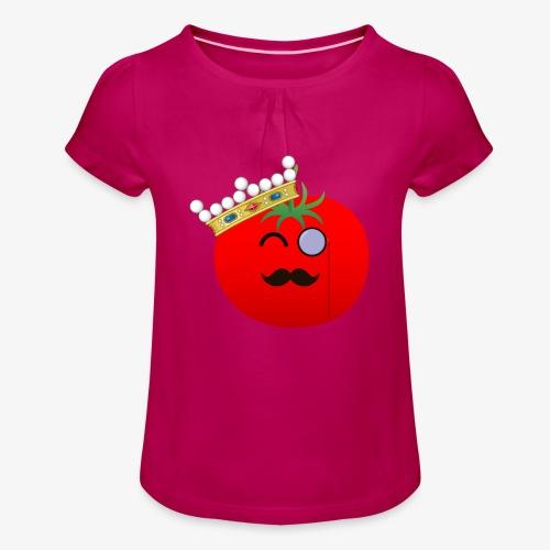 Tomatbaråonin - T-shirt med rynkning flicka