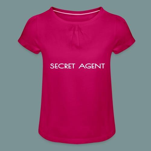 Secret agent - Meisjes-T-shirt met plooien