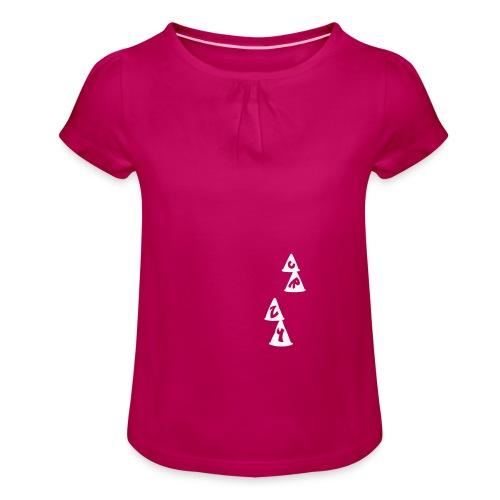 Conos CRZY: CR - Camiseta para niña con drapeado