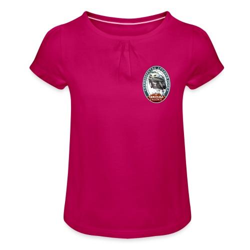 Logo avant + dos - T-shirt à fronces au col Fille