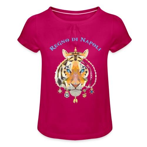 regno di napoli tigre - Maglietta da ragazza con arricciatura