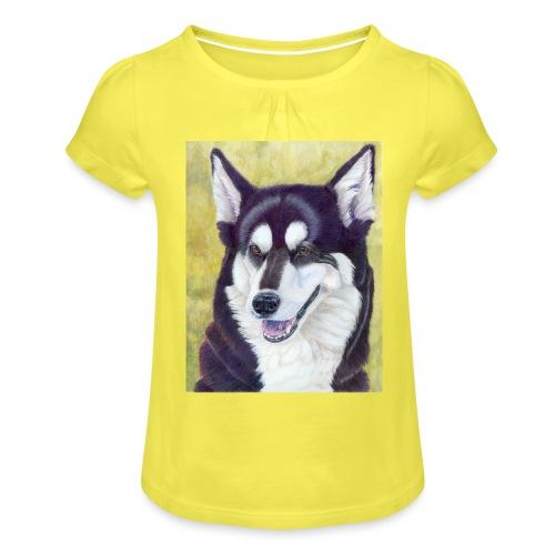 Siberian husky - Pige T-shirt med flæser