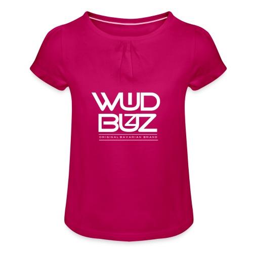 WUIDBUZZ | WB WUID | Unisex - Mädchen-T-Shirt mit Raffungen