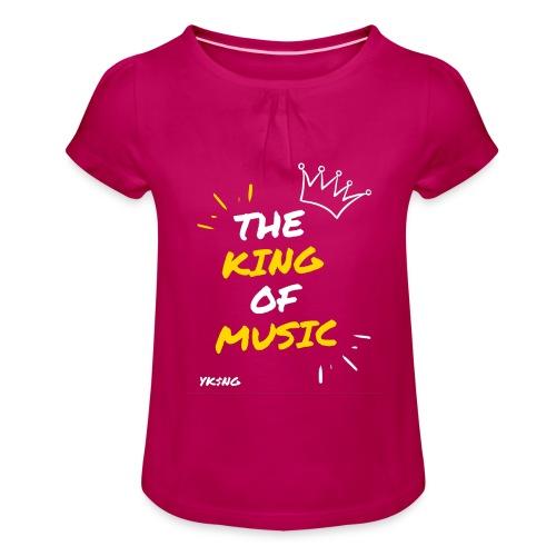 The king Of Music - Camiseta para niña con drapeado