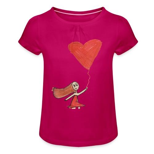 banksyrma - T-shirt med rynkning flicka