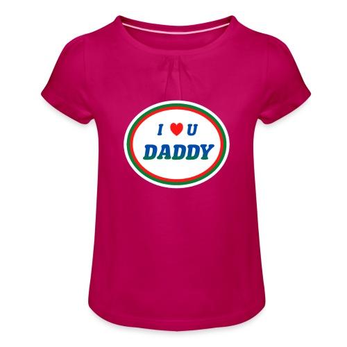 love dad - Pige T-shirt med flæser
