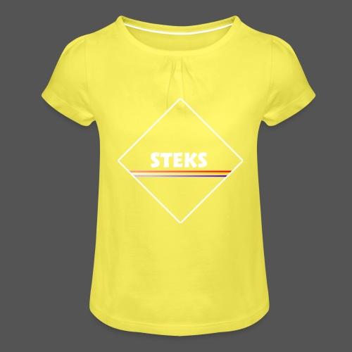 3Color STEKS™ Logo - Meisjes-T-shirt met plooien