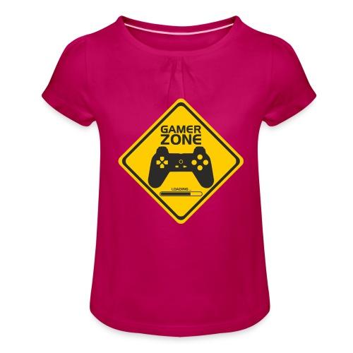 Gamer ZONE - T-shirt à fronces au col Fille