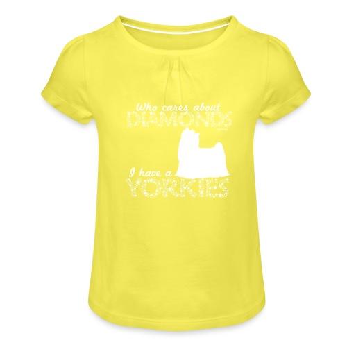 yorkiediamonds2 - Tyttöjen t-paita, jossa rypytyksiä