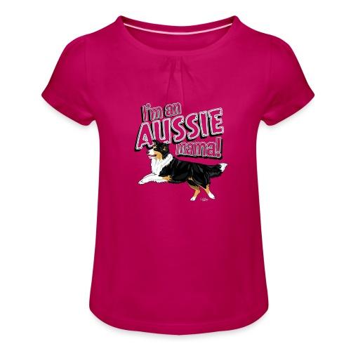 aussiemama6 - Girl's T-Shirt with Ruffles