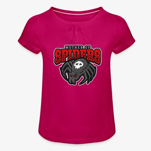 Mother of Spiders - Tyttöjen t-paita, jossa rypytyksiä