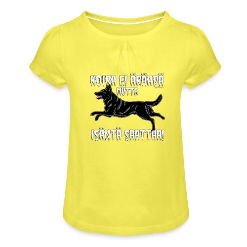 Saksanpaimen Isäntä - Tyttöjen t-paita, jossa rypytyksiä