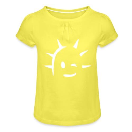 Kaktus Kopf - Mädchen-T-Shirt mit Raffungen