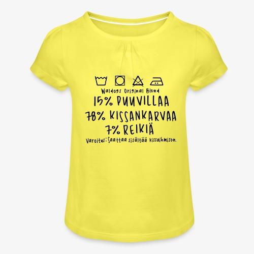 Kissan Omistajan Paita - Tyttöjen t-paita, jossa rypytyksiä