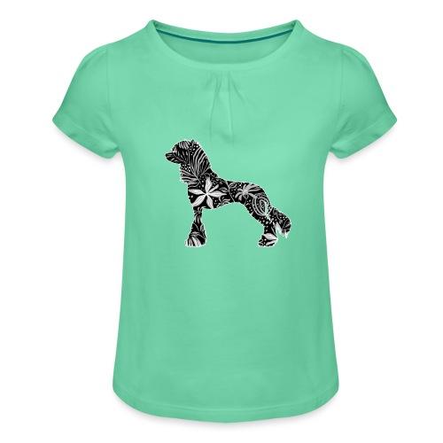 Flower Crested - Tyttöjen t-paita, jossa rypytyksiä