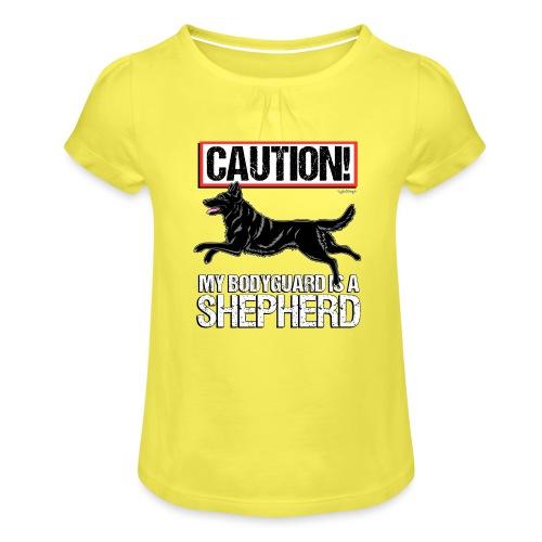 GSD Bodyguard German - Tyttöjen t-paita, jossa rypytyksiä