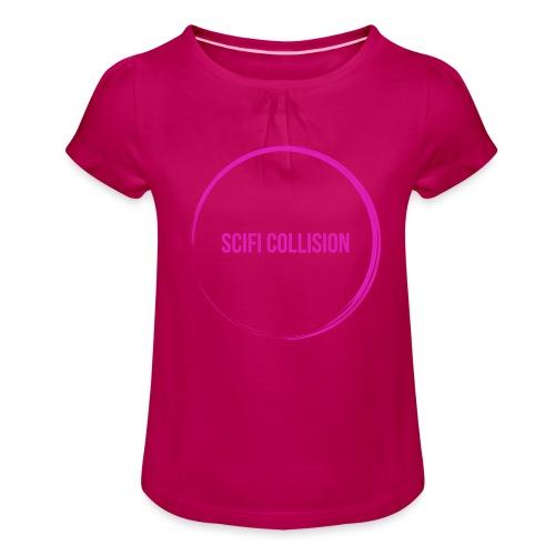 Pink Logo - Girl's T-Shirt with Ruffles