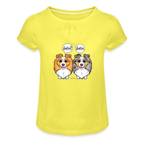 Sheltie Sheltie 3 - Girl's T-Shirt with Ruffles