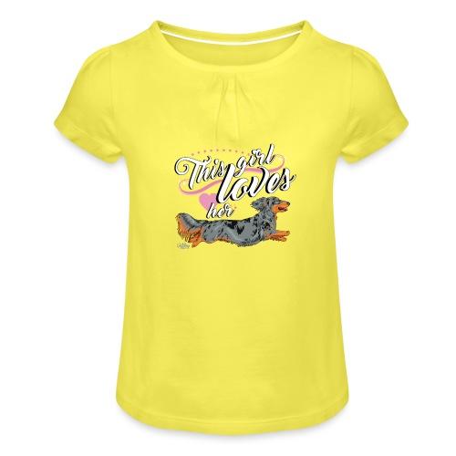 pitkisgirl - Girl's T-Shirt with Ruffles