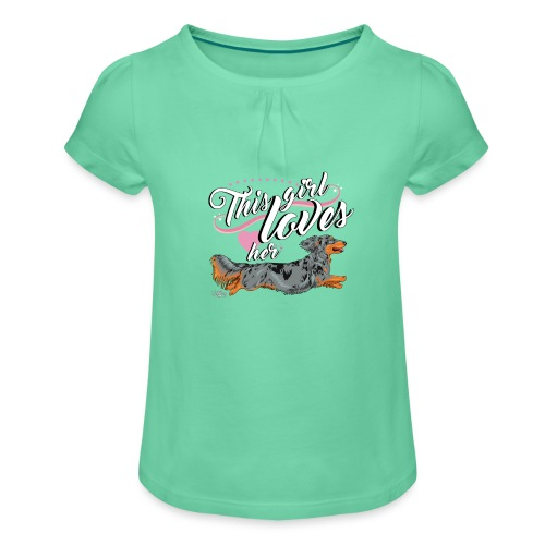 pitkisgirl - Girl's T-Shirt with Ruffles