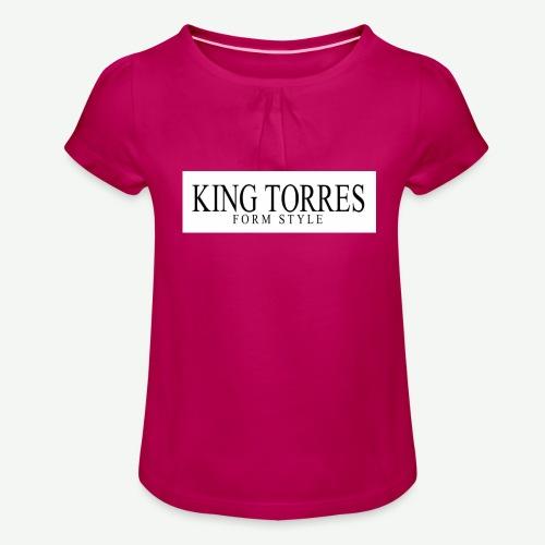 king torres - Camiseta para niña con drapeado