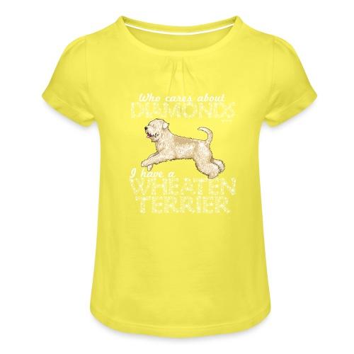 Wheaten Terrier Diamonds 4 - Girl's T-Shirt with Ruffles