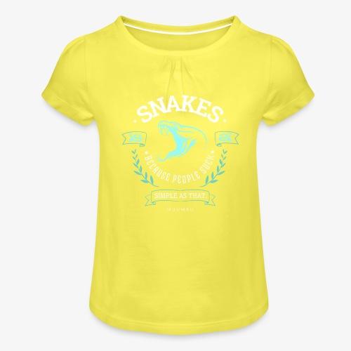 Snakes - People Suck - Tyttöjen t-paita, jossa rypytyksiä