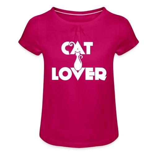 CAT LOVER | Vêtement Pour Femme Et Enfant - T-shirt à fronces au col Fille