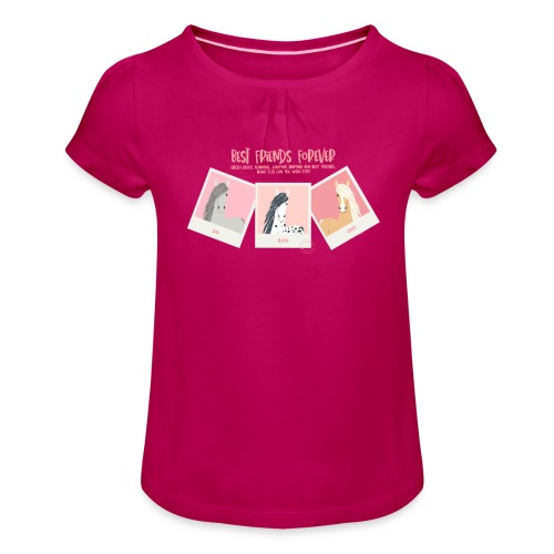 Best horse friends forever - Girl's T-Shirt with Ruffles