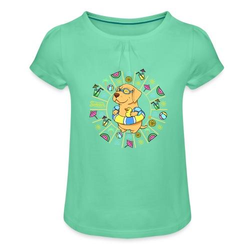 Take me to the Beach! - Tyttöjen t-paita, jossa rypytyksiä