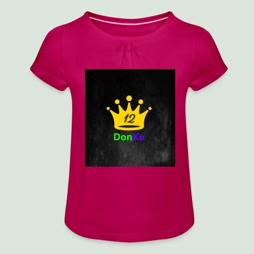 DonKe 12er Fashion - Mädchen-T-Shirt mit Raffungen