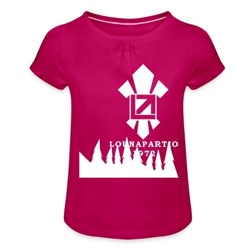 louvaatelogo - Tyttöjen t-paita, jossa rypytyksiä