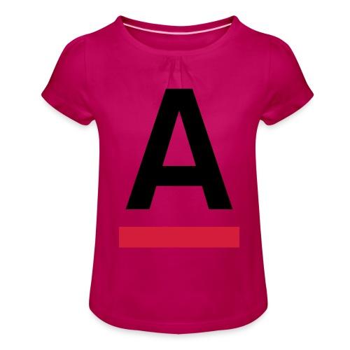 Alliansfritt Sverige A logo 2013 Färg - T-shirt med rynkning flicka