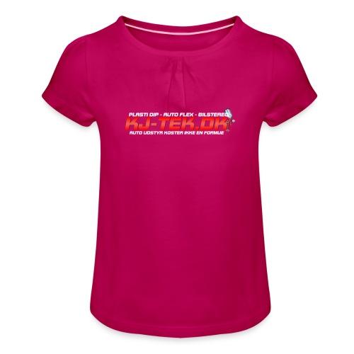 shirtlogo png - Pige T-shirt med flæser